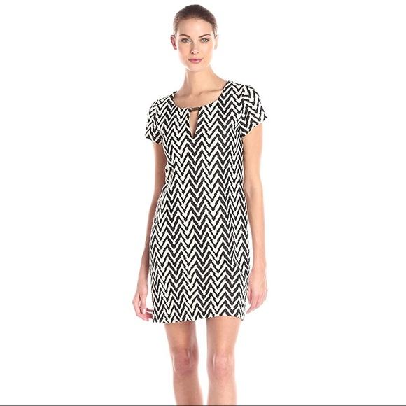 🇺🇸NWT Jessica Simpson Chevron Knit Shift Dress 4